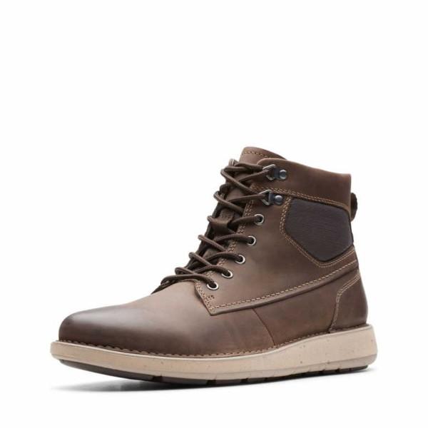 CLARKS Lace up Boots brown UN LARVIK PEAK Kn.Schnürer